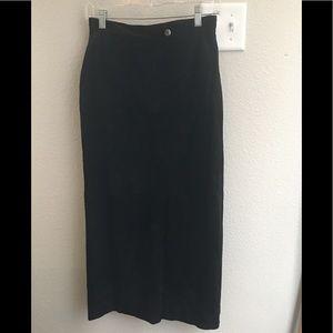 Lauren Ralph Lauren Suede/Leather Midi Skirt